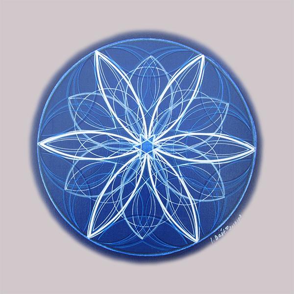 Květná mandala vnitřního klidu