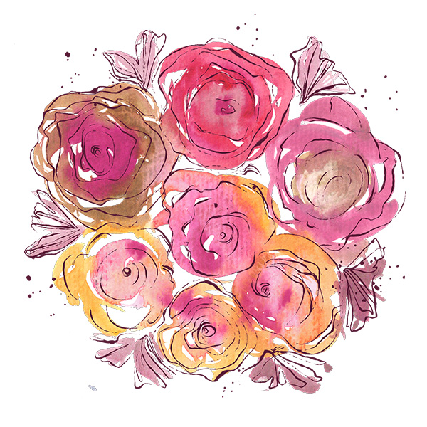 Růžový pugét