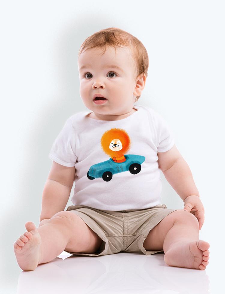 Baby tričko LEV ZÁVODNÍK