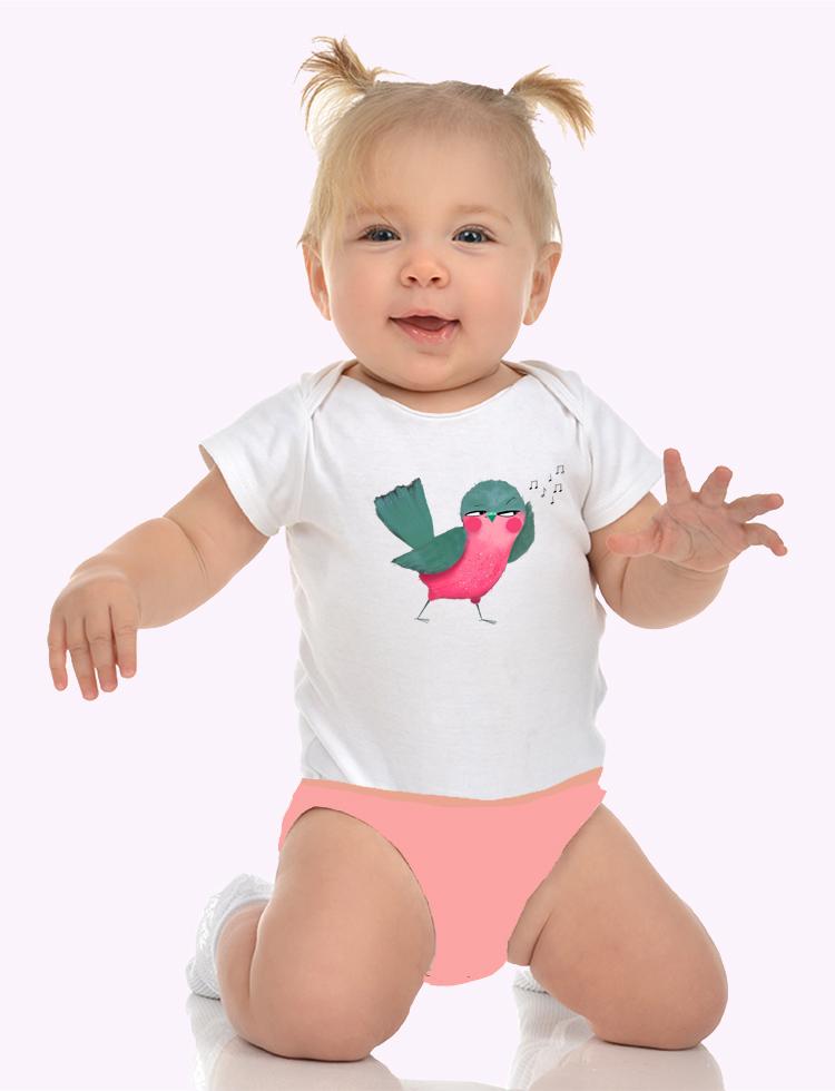 Baby tričko Ptáček zpěváček