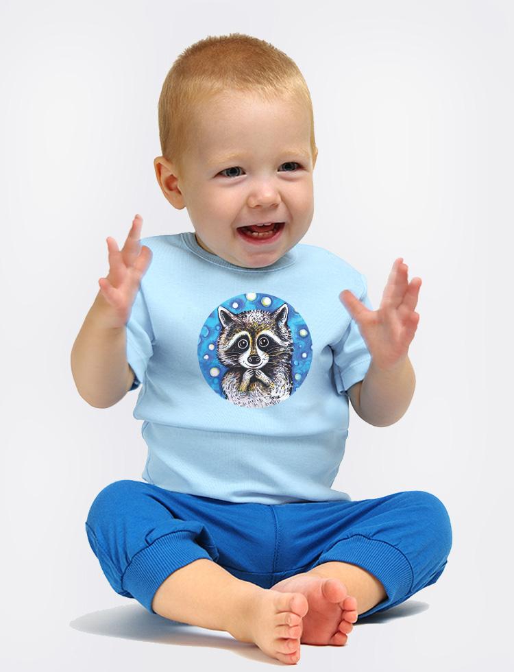 Baby tričko Modrý mýval  čistotný je !
