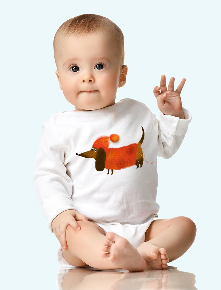 Baby tričko Jezevčík svetr rád