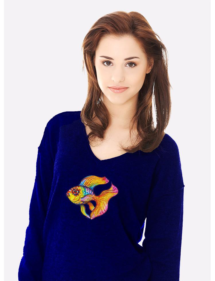 Zlatá rybka, tričko